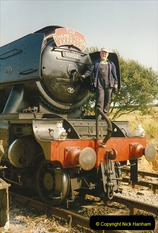 1994-07-18 to 22 Your Host spends a week driving Flying Scotsman.  (14) 035