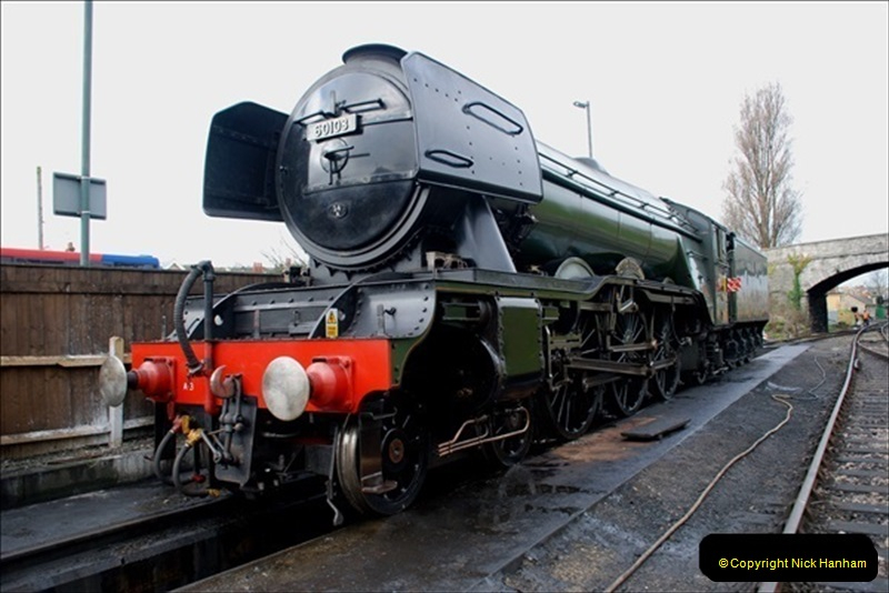 2019-03-20 Flying Scotsman at Swanage (24) 070