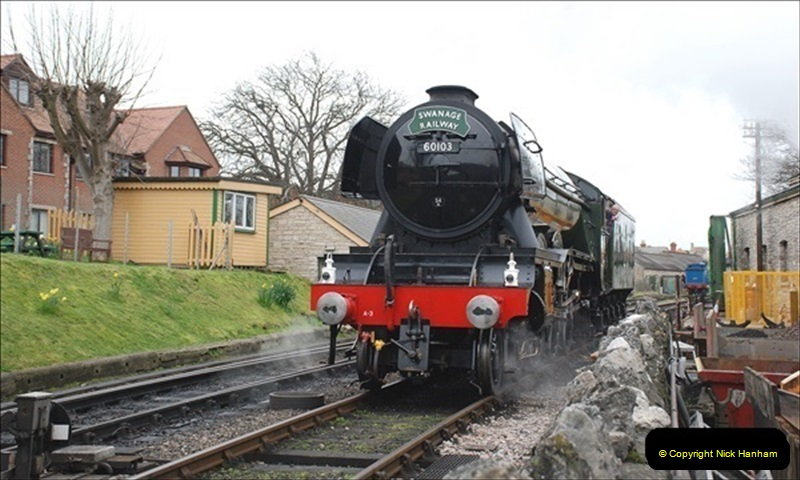 2019-03-22 Flying Scotsman at Swanage. (126) 299