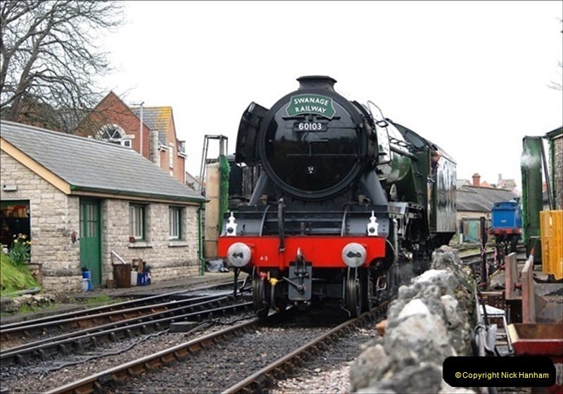2019-03-22 Flying Scotsman at Swanage. (127) 300