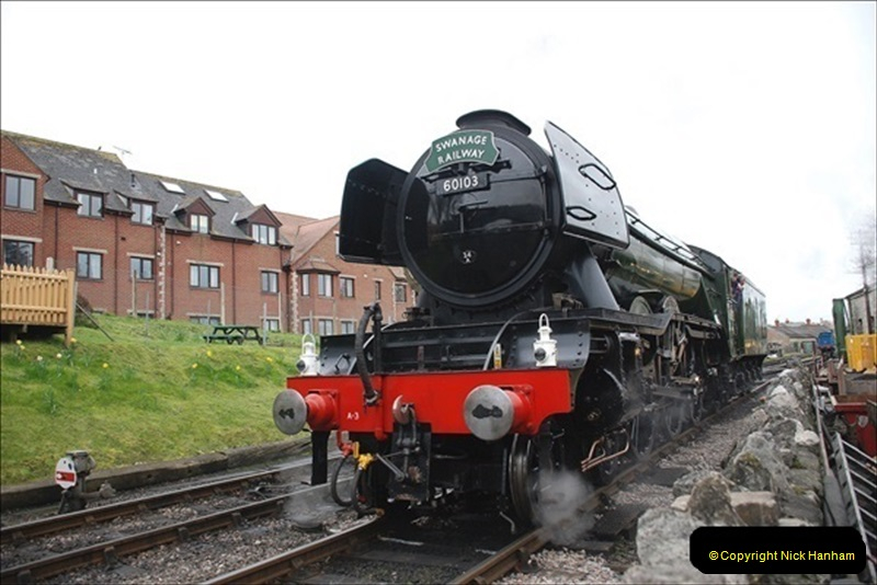 2019-03-22 Flying Scotsman at Swanage. (128) 301