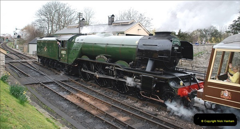 2019-03-22 Flying Scotsman at Swanage. (143) 316