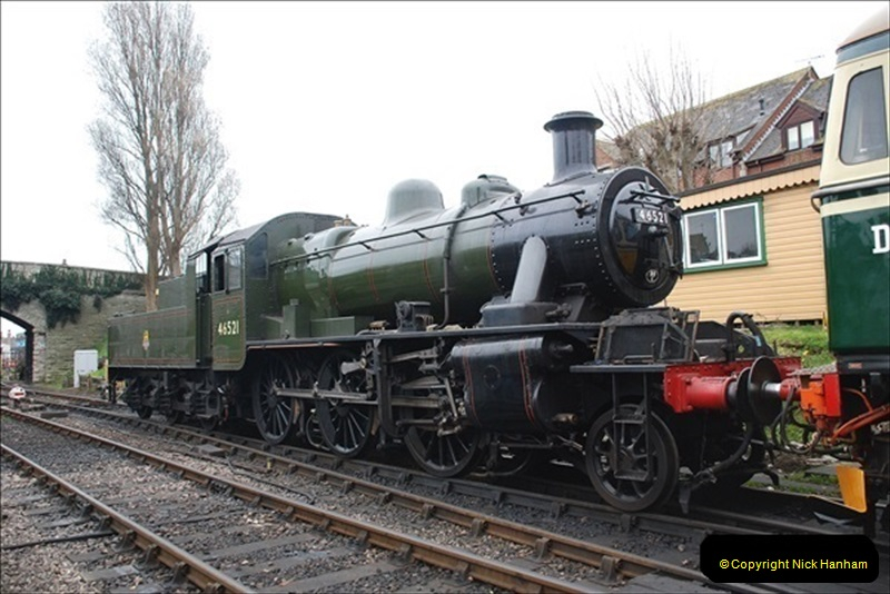 2019-03-22 Flying Scotsman at Swanage. (165) 338