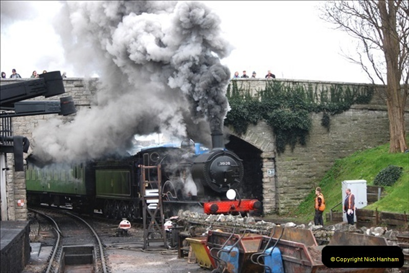 2019-03-22 Flying Scotsman at Swanage. (172) 345