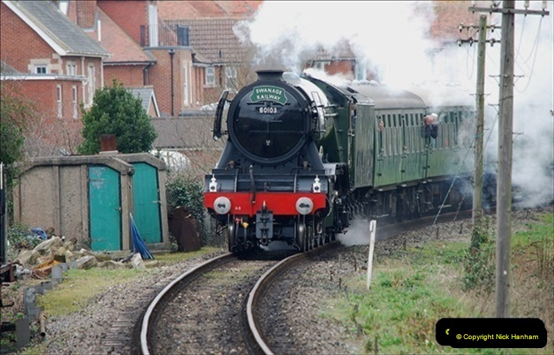 2019-03-22 Flying Scotsman at Swanage. (181) 354