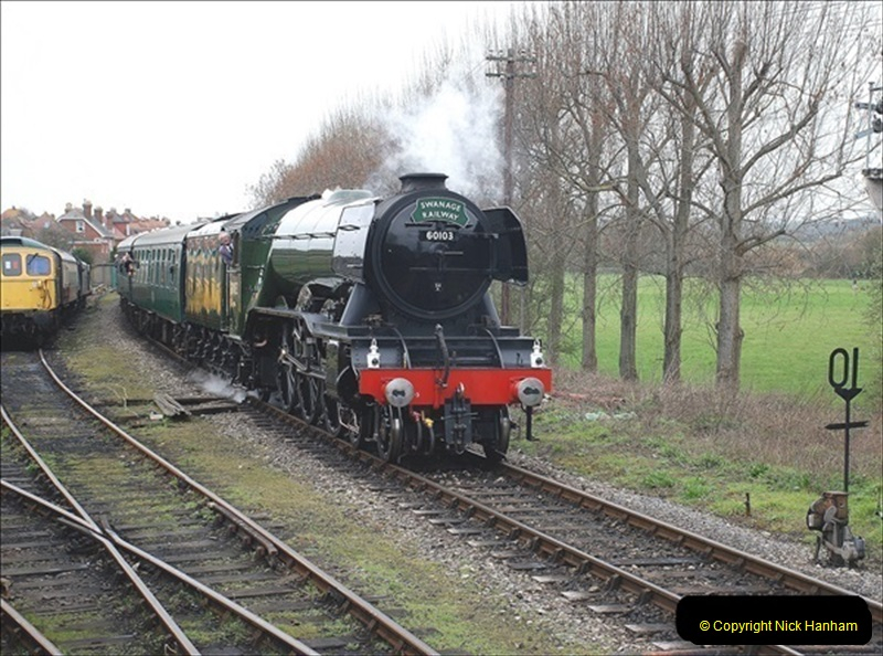2019-03-22 Flying Scotsman at Swanage. (187) 360