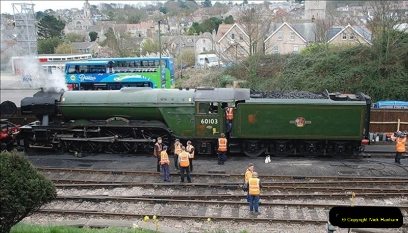 2019-03-22 Flying Scotsman at Swanage. (2) 175