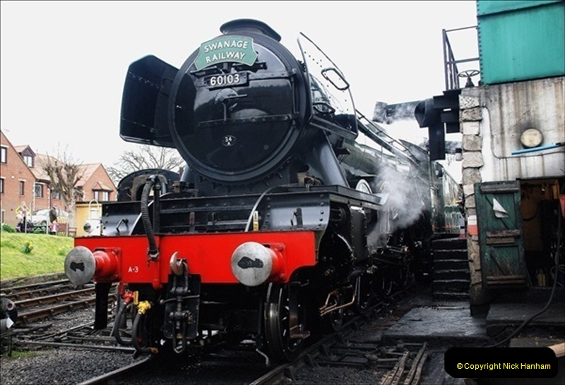 2019-03-22 Flying Scotsman at Swanage. (215) 388