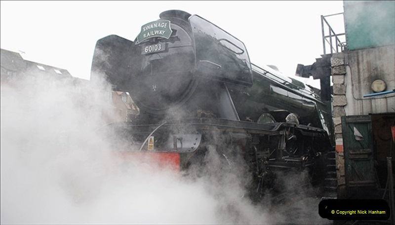 2019-03-22 Flying Scotsman at Swanage. (218) 391