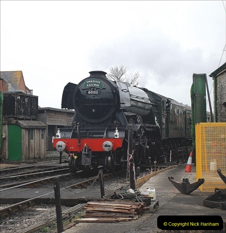 2019-03-22 Flying Scotsman at Swanage. (245) 418