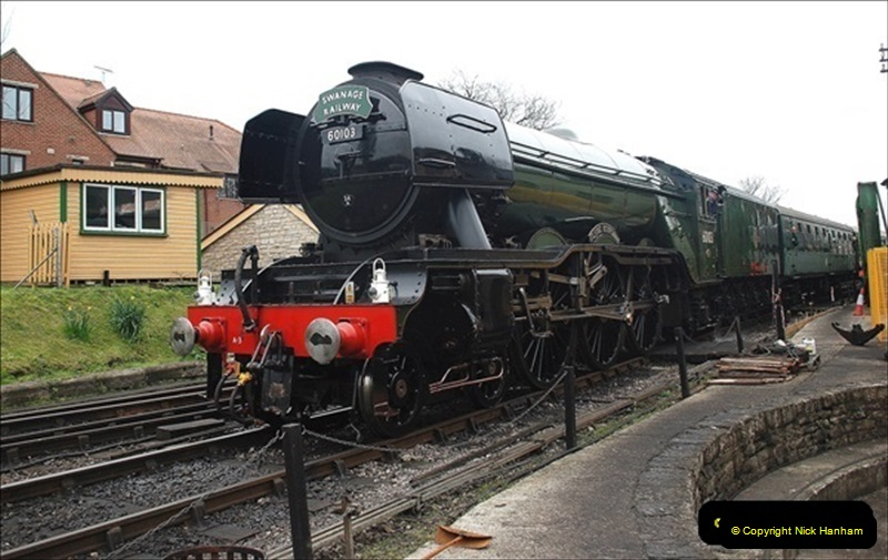 2019-03-22 Flying Scotsman at Swanage. (247) 420