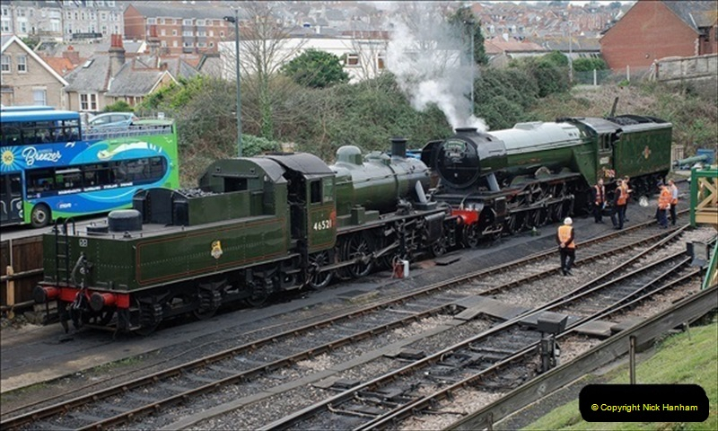 2019-03-22 Flying Scotsman at Swanage. (4) 177