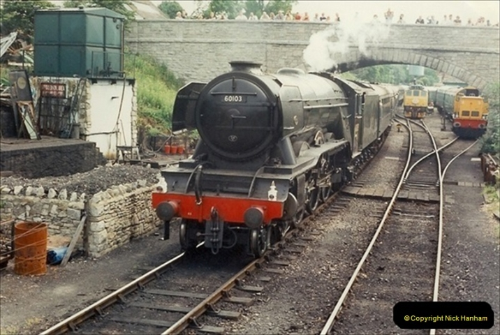 1994-07-16 Flying Scotsman comes to Swanage. (13)  013