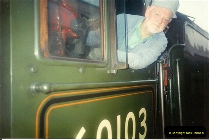 1994-07-16 Flying Scotsman comes to Swanage. (17) Your Host driving a Saturday Wessex Belle. 017