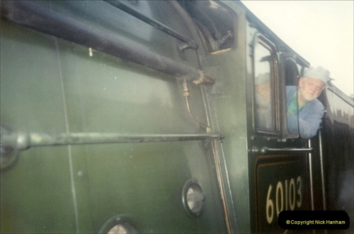 1994-07-16 Flying Scotsman comes to Swanage. (18) Your Host driving a Saturday Wessex Belle. 018