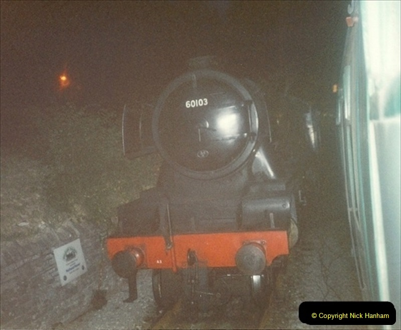 1994-07-16 Flying Scotsman comes to Swanage. (21) Your Host driving a Saturday Wessex Belle. 021