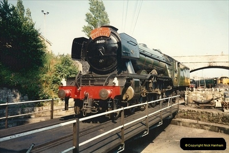 1994-07-18 to 22 Your Host spends a week driving Flying Scotsman.  (1) 022