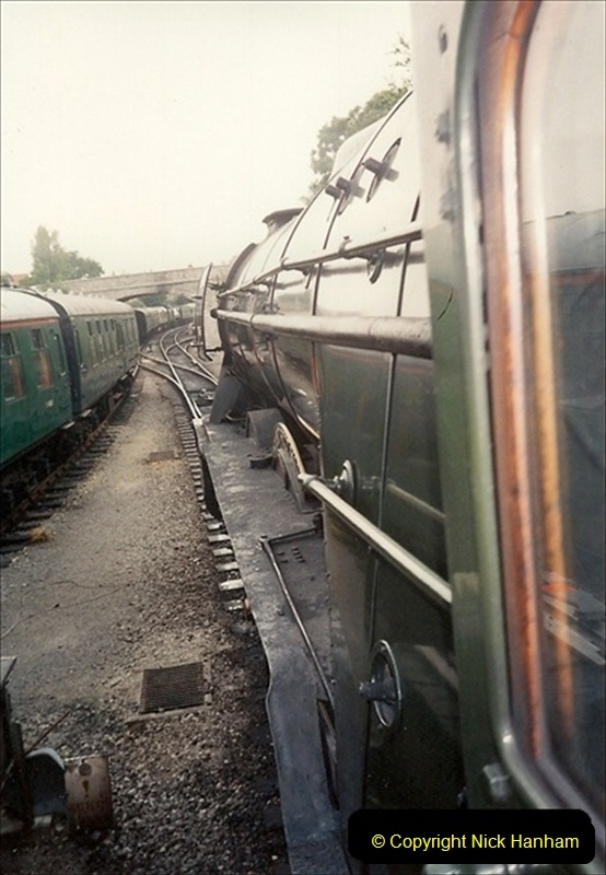 1994-07-18 to 22 Your Host spends a week driving Flying Scotsman.  (17) 038