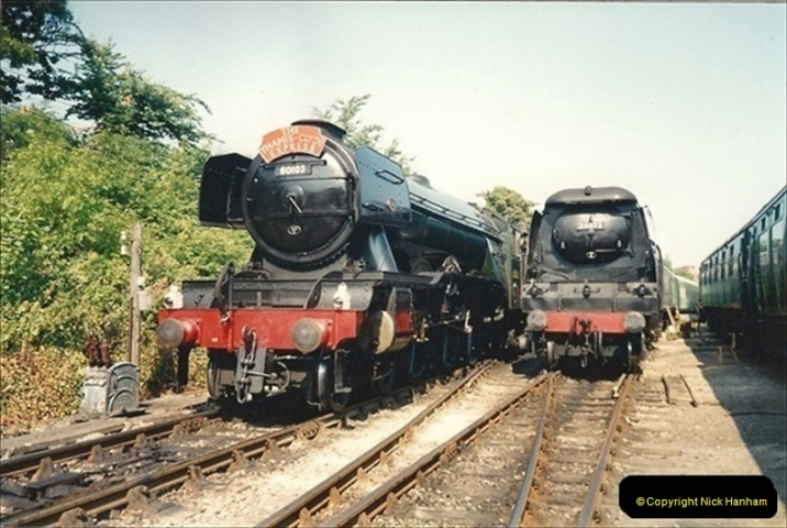 1994-07-18 to 22 Your Host spends a week driving Flying Scotsman.  (3) 024
