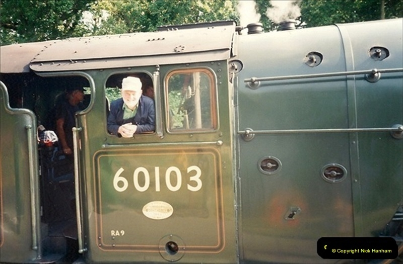 1994-07-18 to 22 Your Host spends a week driving Flying Scotsman.  (5) 026