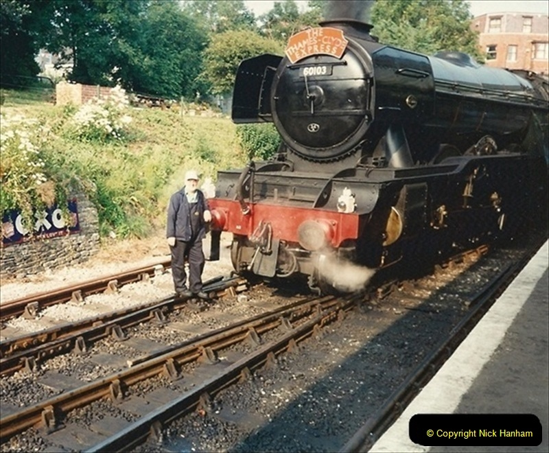 1994-07-18 to 22 Your Host spends a week driving Flying Scotsman.  (7) 028