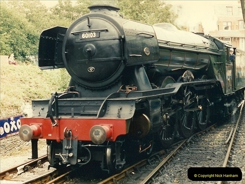 1994-08-08 Your Host driving Flying Scotsman. (3)041