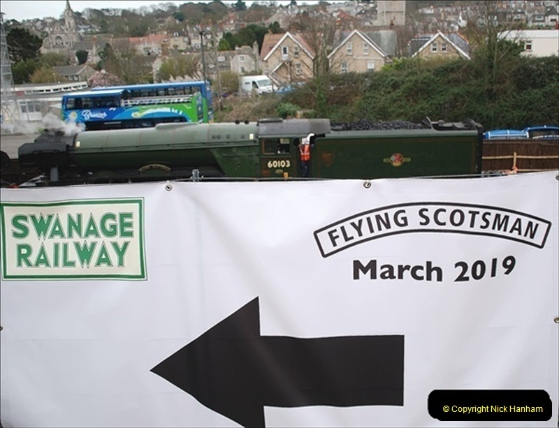2019-03-22 Flying Scotsman at Swanage. (1) 174