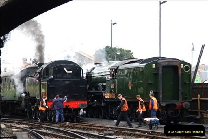 2019-03-22 Flying Scotsman at Swanage. (106) 279