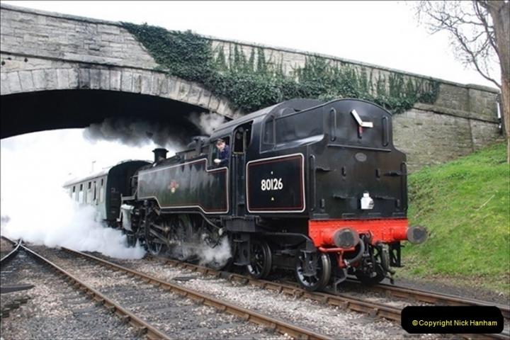 2019-03-22 Flying Scotsman at Swanage. (111) 284