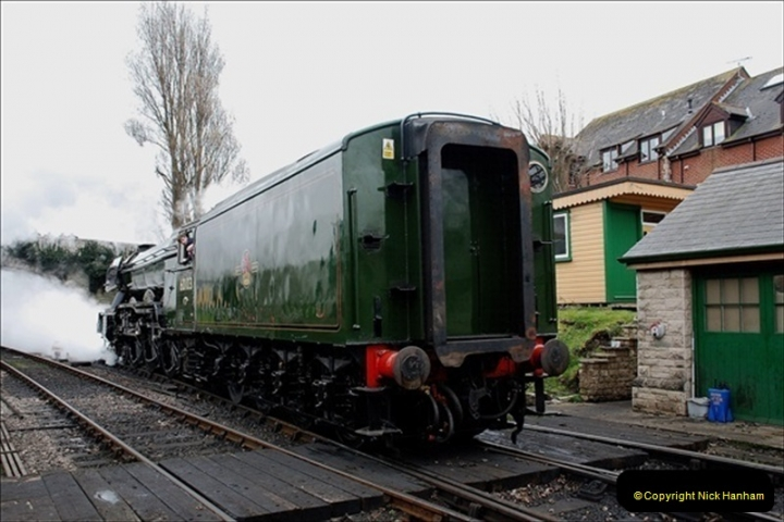 2019-03-22 Flying Scotsman at Swanage. (123) 296