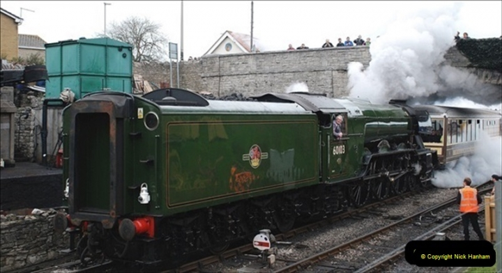2019-03-22 Flying Scotsman at Swanage. (142) 315