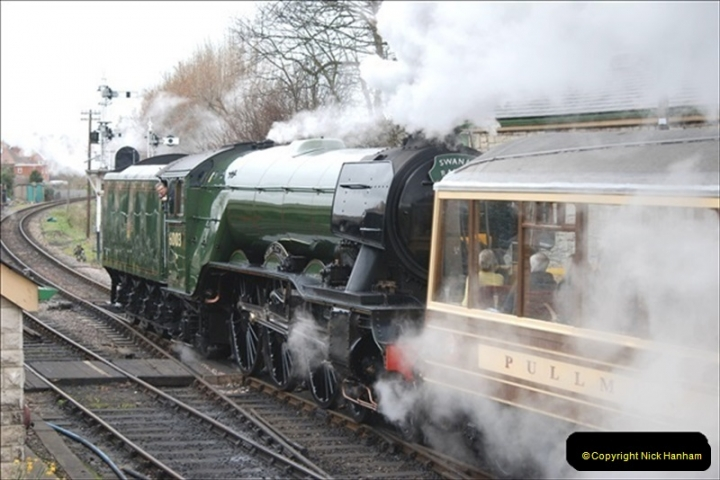 2019-03-22 Flying Scotsman at Swanage. (144) 317