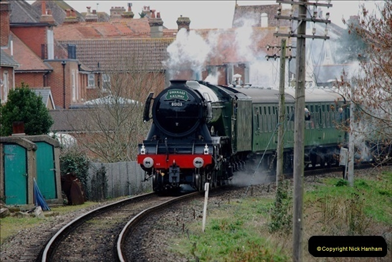 2019-03-22 Flying Scotsman at Swanage. (180) 353