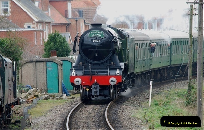2019-03-22 Flying Scotsman at Swanage. (182) 355