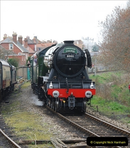 2019-03-22 Flying Scotsman at Swanage. (185) 358