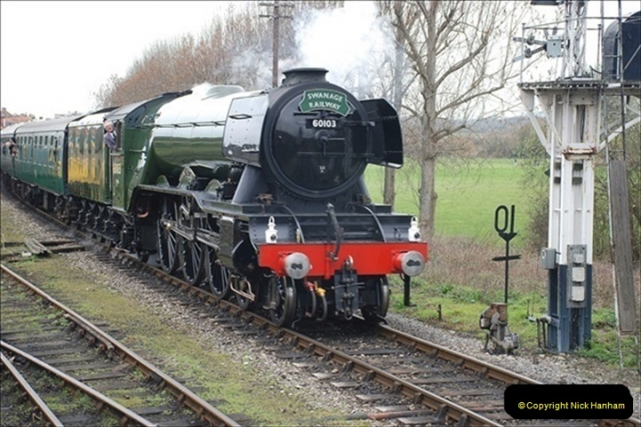 2019-03-22 Flying Scotsman at Swanage. (188) 361