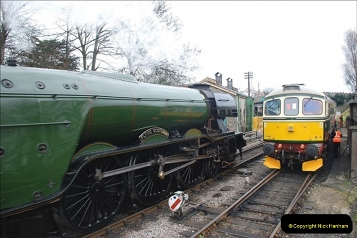 2019-03-22 Flying Scotsman at Swanage. (190) 363