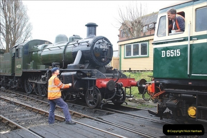 2019-03-22 Flying Scotsman at Swanage. (195) 368