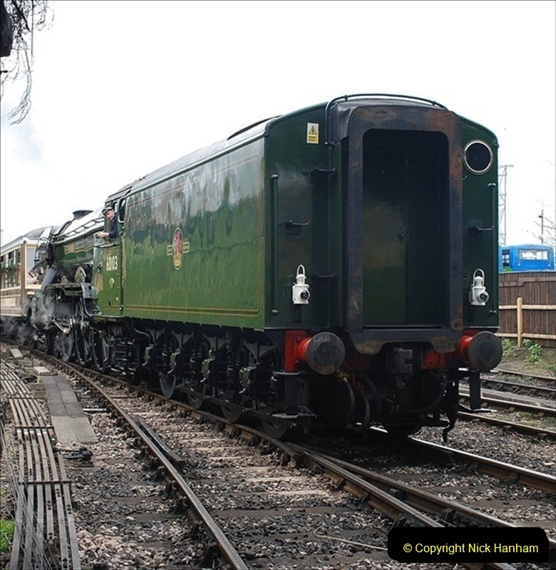 2019-03-22 Flying Scotsman at Swanage. (234) 407