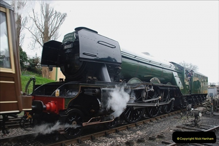 2019-03-22 Flying Scotsman at Swanage. (235) 408