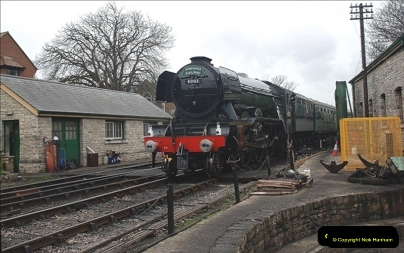 2019-03-22 Flying Scotsman at Swanage. (246) 419