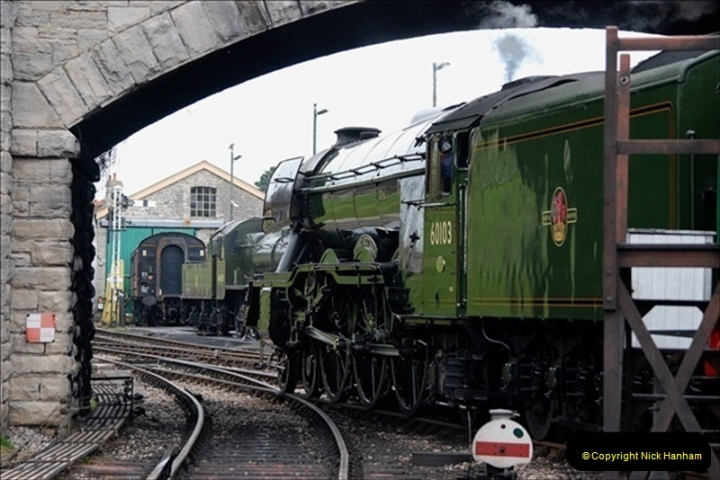 2019-03-22 Flying Scotsman at Swanage. (248) 421