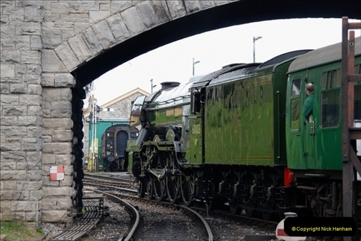 2019-03-22 Flying Scotsman at Swanage. (249) 422