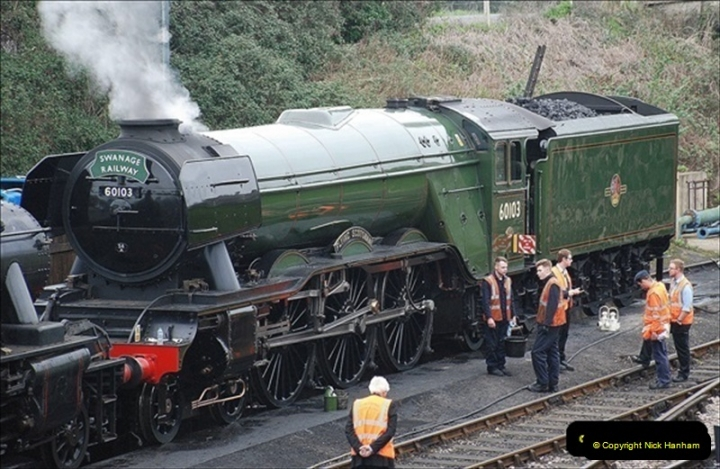 2019-03-22 Flying Scotsman at Swanage. (3) 176