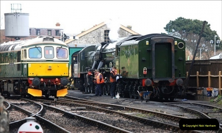 2019-03-22 Flying Scotsman at Swanage. (55) 228