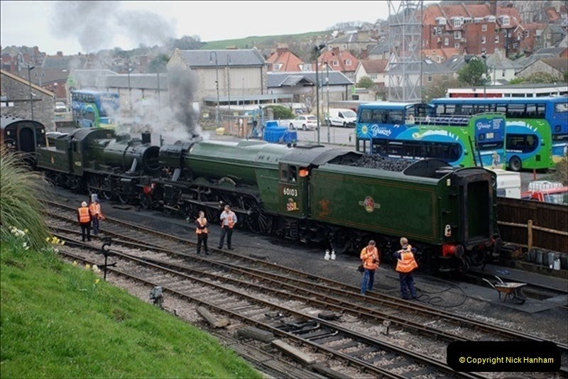 2019-03-22 Flying Scotsman at Swanage. (7) 180