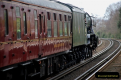 2019-03-19 Flying Scotsman at Parkstone, Poole, Dorset on route to the SR. (5) 046