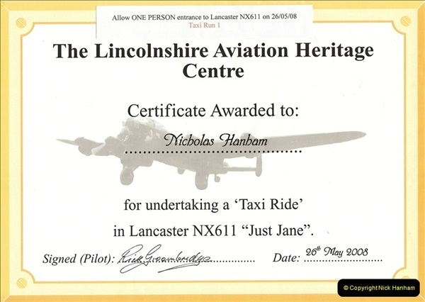 2008-05-26 Lancaster 'Just Jane' Taxi Ride. (0)001