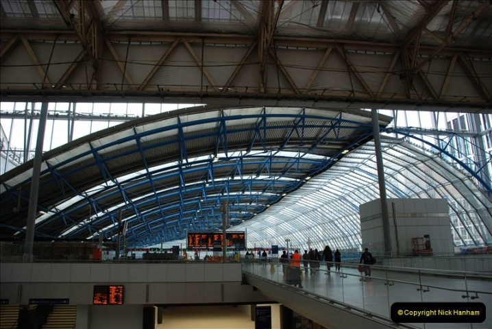 2019-04-30 London Waterloo. (7) The old Eurostar part of Waterloo now adapted for SWT trains. 218