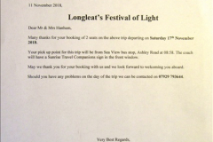 Longleat Winter Safari Park and Festivam of Lights 17 November 2018